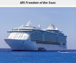 Freedom of the Seas, the biggest ship in 2008