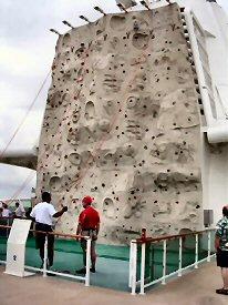 rock climbing on cruise ship