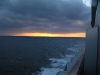 sunset from ship balcony