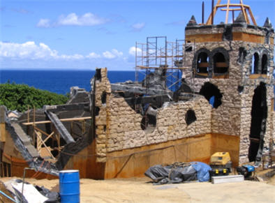 church built for Pirates of the Caribbean 2