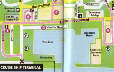 Map of Aruba Downtown