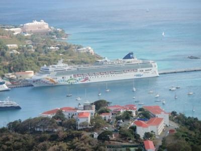 The Norwegian Pearl in St. Thomas
